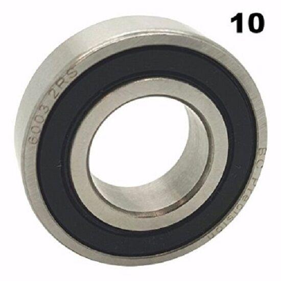 17x35x10, Qty10 6003 2RS Sealed Bearings