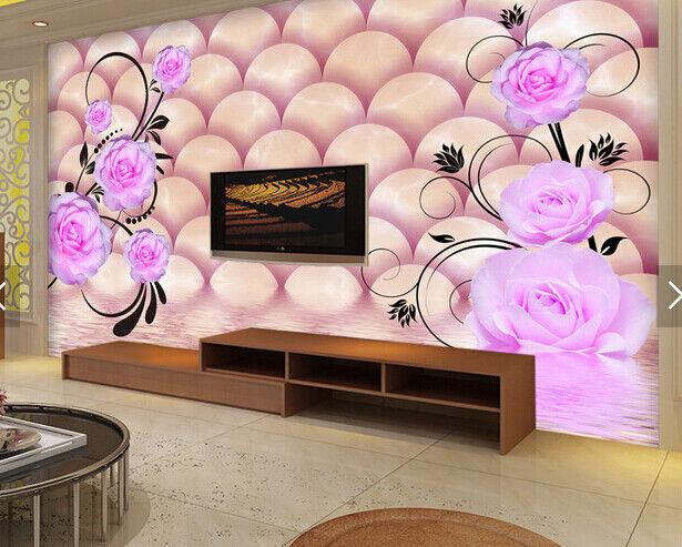 3D Water Petal 566 Wallpaper Murals Wall Print Wallpaper Mural AJ WALL AU Kyra