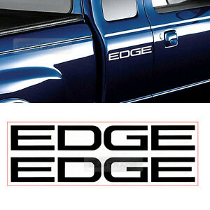 Image Is Loading Edge Logo Bedside Decals Sticker Pcs For Ford