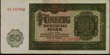 1948 Communist Germany DDR 50 Deutsche Mark Banknote