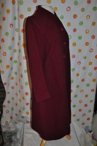 mi femmes Forecaster manteau robe bourgogne vintage laine de chaud chic Aw78g1