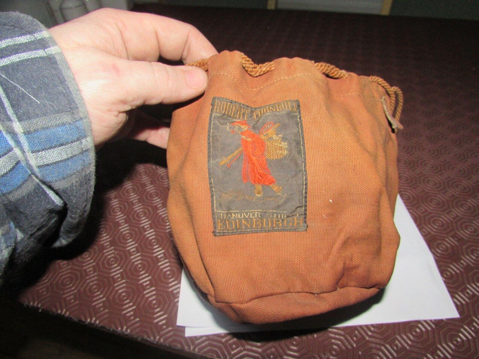 V good vintage robert turnbull edinburgh large fishing reel pouch Tasche