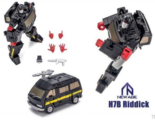 TRASFORMAZIONE NewAge NA-H7B Riddick Nero Ironhide in magazzino!