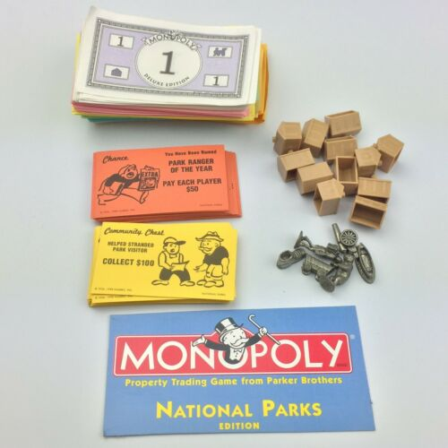 Monopoly National Parks Board Game Replacement Parts Select Your Own Piece s