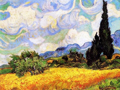 Vincent Van Gogh Wheat Field With Cypresses 1889 Art Painting Canvas Art Print
