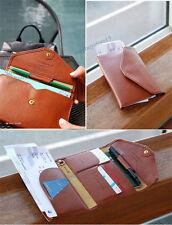 Womens Travel Wallet Passport Bag Holder Boarding Pass Holder Tripping Clutch
