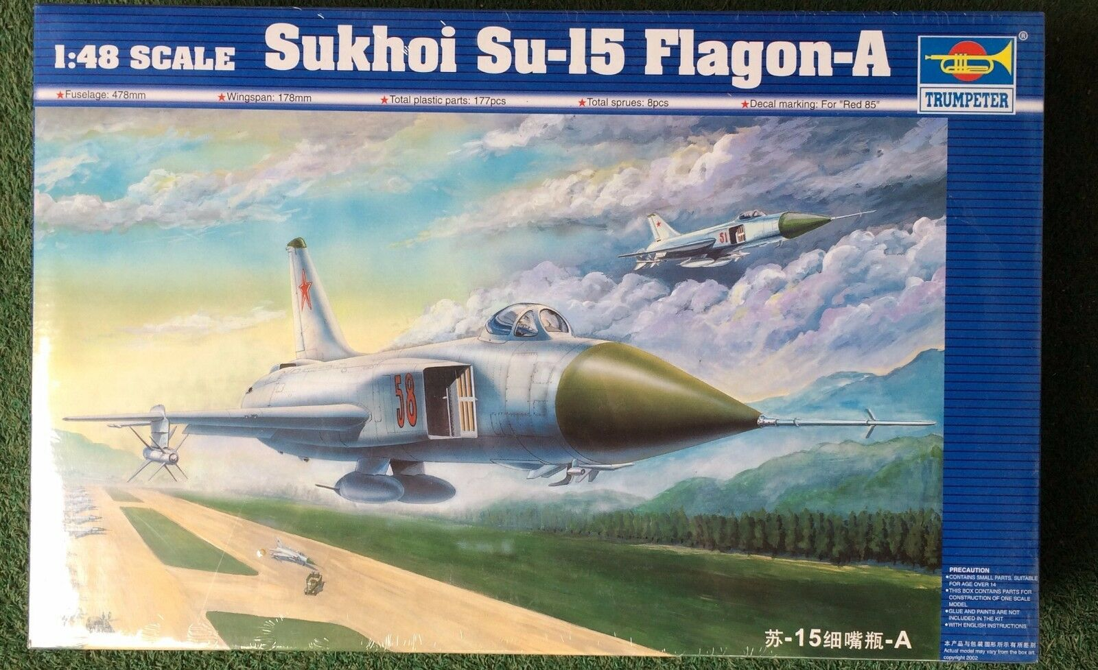 02810 Trumpeter 1 48 Model Sukhoi Su-15 Flagon-A Plane Aircraft Warplane Kit