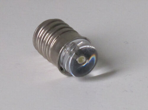 MES E10 miniature flashlight screw bulb LED Torch lamp 6 volt 4 Cell