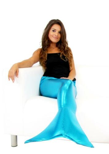 Adult Female Blue Mythical Sea Creature Human Fish Mermaid Tail Costume Fin