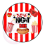 thumbnail 1 - Movie-Night-Popcorn-Hotdog-Family-Film-Cinema-Sweets-Cone-Party-Kids-Labels
