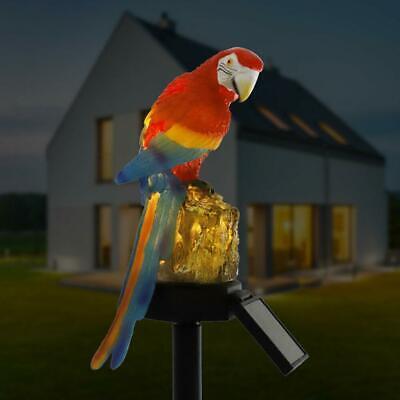 Terrasse Rasen Sommerfest Weihnachten Girlanden Urlaub Solar Power LED Papagei Rasen Licht Wasserdichte Garten Landschaft Lampe Outdoor-Dekor f/ür Blumenzaun