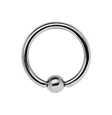 9-12mm Größe Titan Piercing Schmuck BCR Brust Ring 1,6mm mit Doppel-Klemmkugel