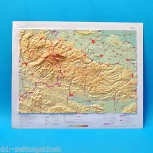 3d Reliefkarte Harz Landkarten Landkarte Poster