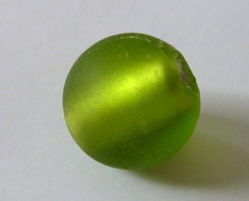 Silverfoil Glasperlen gefrostet rund 14 mm Kugel 5//10 Stück 2327