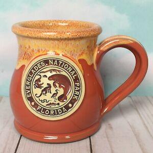 Everglades-National-Park-Coffee-Mug-Deneen-Pottery-12-Ounce-Manatee-Gator-Snake