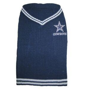 Dallas-Cowboys-NFL-Pets-First-Acrylic-Dog-Pet-Winter-Blue-Sweater-Sizes-XS-L
