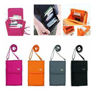 d59b557e73fe Details about New Travel Wallet Organizer Passport Credit Card Holder Cash  Purse Case Bag