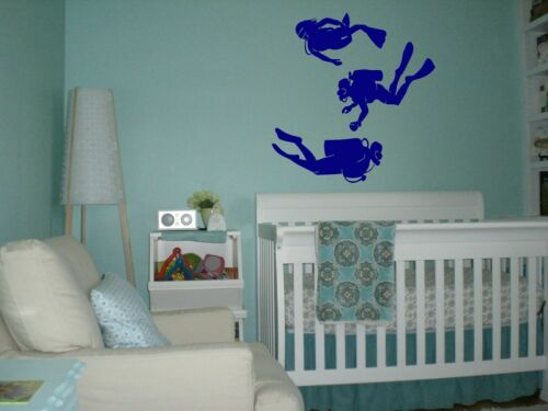 Wall Decal Sticker Bedroom scuba diver mask water deep dive swim nursery bo2822