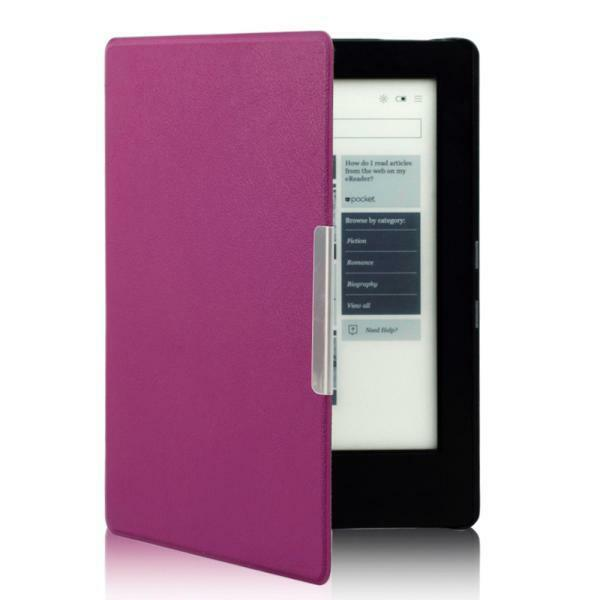 Magnetic Leather Auto Sleep Cover smart Case For KOBO AURA H2O eReader Touch Pen