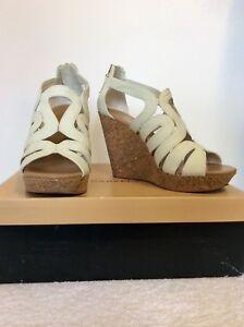 timeless design 60af2 52783 Heel Carvela Wedge Costo Sandals Strappy 5 85 Cork 38 Karla £ Size White  6qpwqABX
