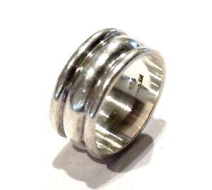 Bijou-argent-925-Mexico-bague-anneau-taille-55-poinconnee-dans-l-039-anneau-ring