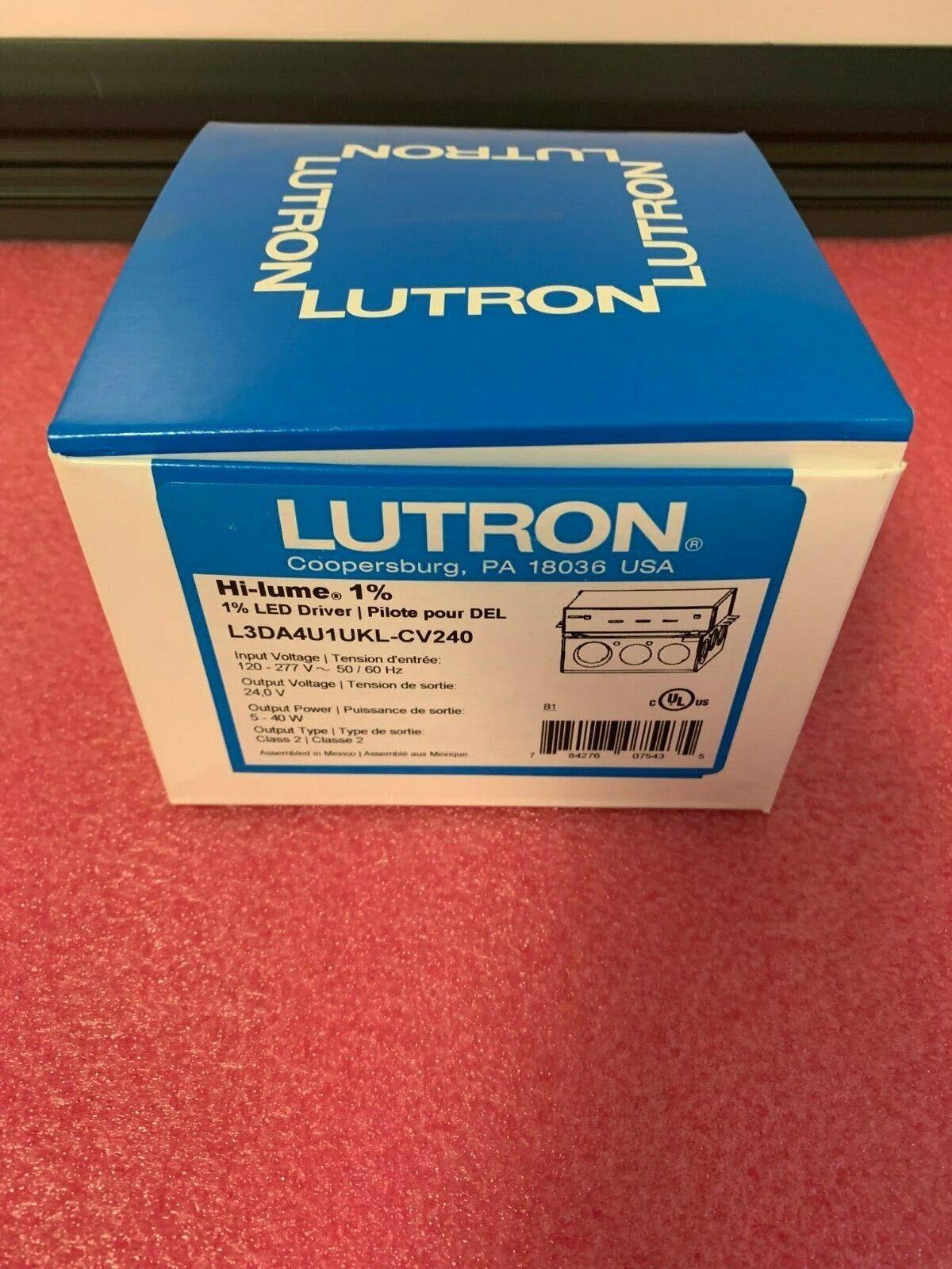 Lutron Hi-lume L3DA4U1UKL-CV240 1 percent Dimming Led Driver