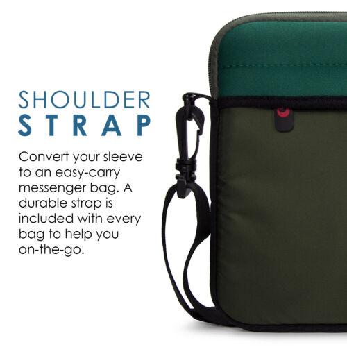 Lightweight Shoulder Strap Messenger Bag for 13 13.3 Slim 14 Laptop Chromebook