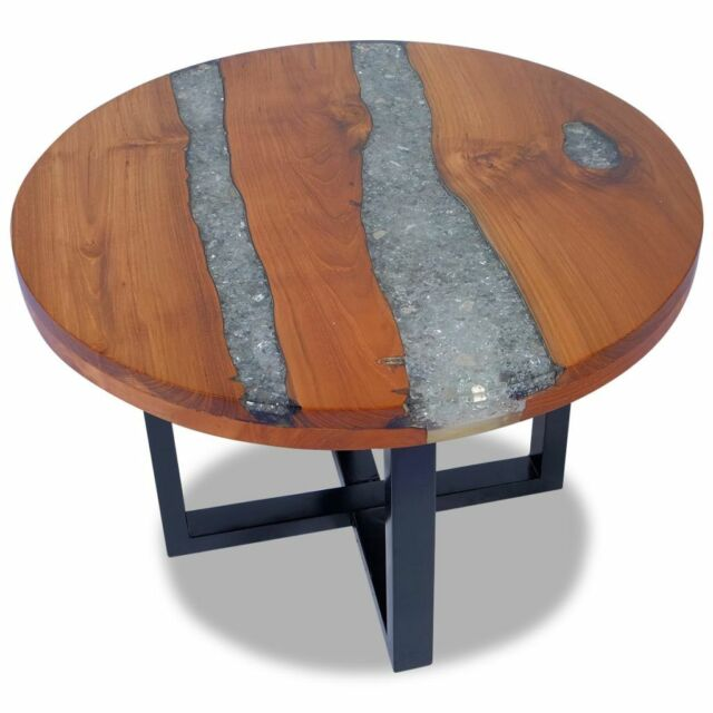 Abode 84 Live Edge Solid Teak Natural Stain Finish Wood End Table