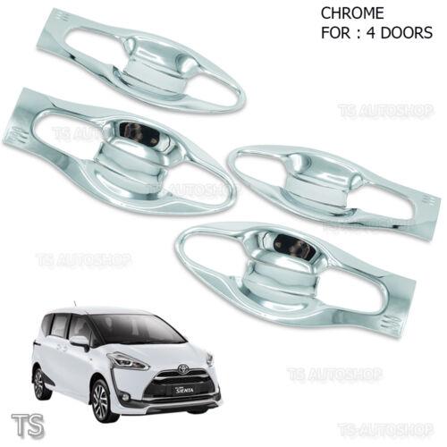 For Toyota Sienta Xp170 2017-18 Door Handle Bowl Insert Cover Chrome V2 Trim