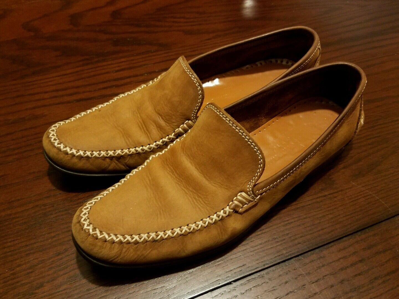 Salvatore Ferragamo Sport Damens's Antic Braun Leder Schuhes Größe 7.5 AAA