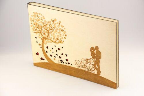 Baum der Liebe, Holz Fotoalbum, Hochzeit, Herz Fotoalbum, Hochzeitsbaum