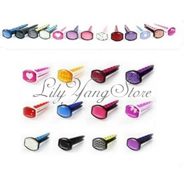 Mix Color Diamond Figure Air Freshener Perfume Diffuser For Car Fragrance Random