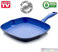 Flavorstone 28cm Grillpan Cookware Non Stick Flavour Stone Marble Coated