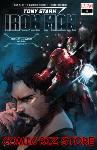 1ST PRINTING MAIN COVER BAGGED /& BOARDED 2018 $4.99 TONY STARK IRON MAN #1