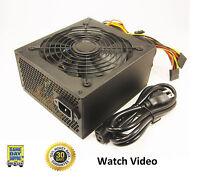 Logisys 650 Watt 650w Power Supply 20+4-pin Pcie 140mm Fan Atx W/ Sata Eps 466