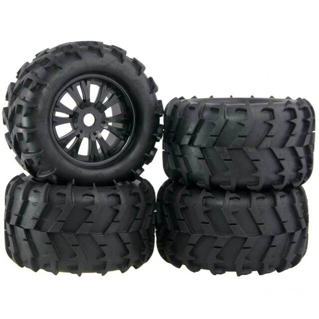Monster Truck Tires >> 4x Rc Car Off Road 1 8 Scale Monster Truck Bigfoot Tyre Tires 17mm