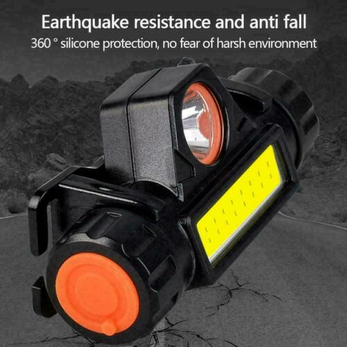 Safe Fishing USB Rechargeable Camping COB Outdoor Lighting Headlamp E2S9 F8Q5