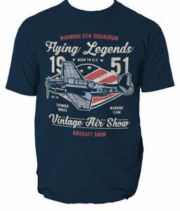 T-Shirt-Air-Show-Mens-Airplane-Vehicles-Flying-Legends-Warbird-legends-S-3XL