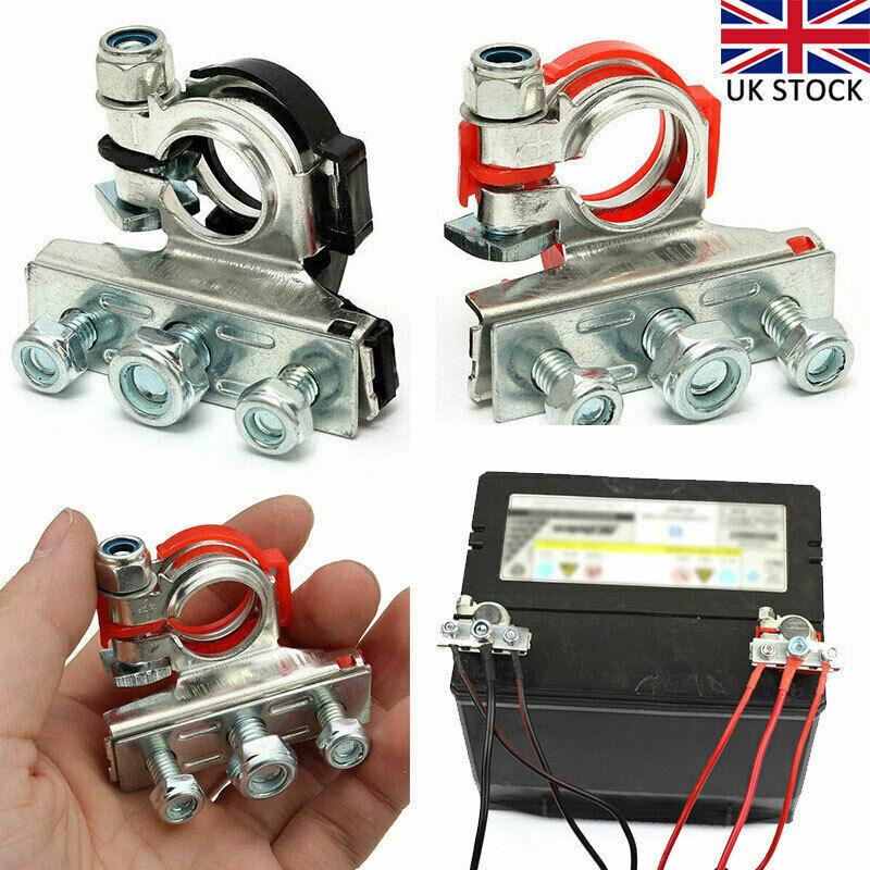 Car Parts - 2pcs 12V Battery Terminals Connectors Clamps For Caravan Car Van Motorhome 3 Way