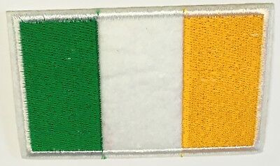 Ireland tricolour embroided badge IRON ON patch