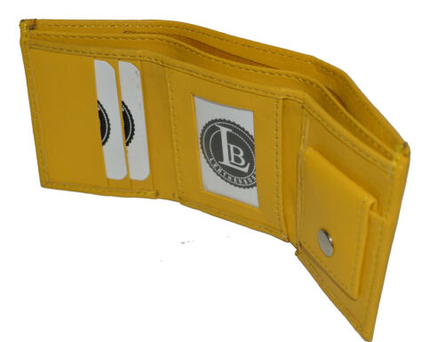 KIDS WALLET SMALL TRIFOLD NEW YELLOW VERY CUTE WALLET GIFT IDEA FREE SHIPPING