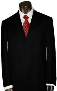 4600-NEW-BRIONI-SOLID-BLACK-FLAMINIO-21-ALL-SEASON-FINE-WOOL-SUIT-44L-44-L