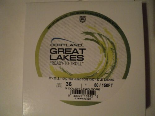 1 NIP BOXES CORTLAND GREAT LAKES READY TO TROLL LEAD CORE 36 LB TEST