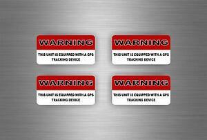 Calcomania-4x-GPS-Sistema-de-Alarma-Advertencia-Calcomania-Vinilo-De-Seguridad-Antirrobo-Coche