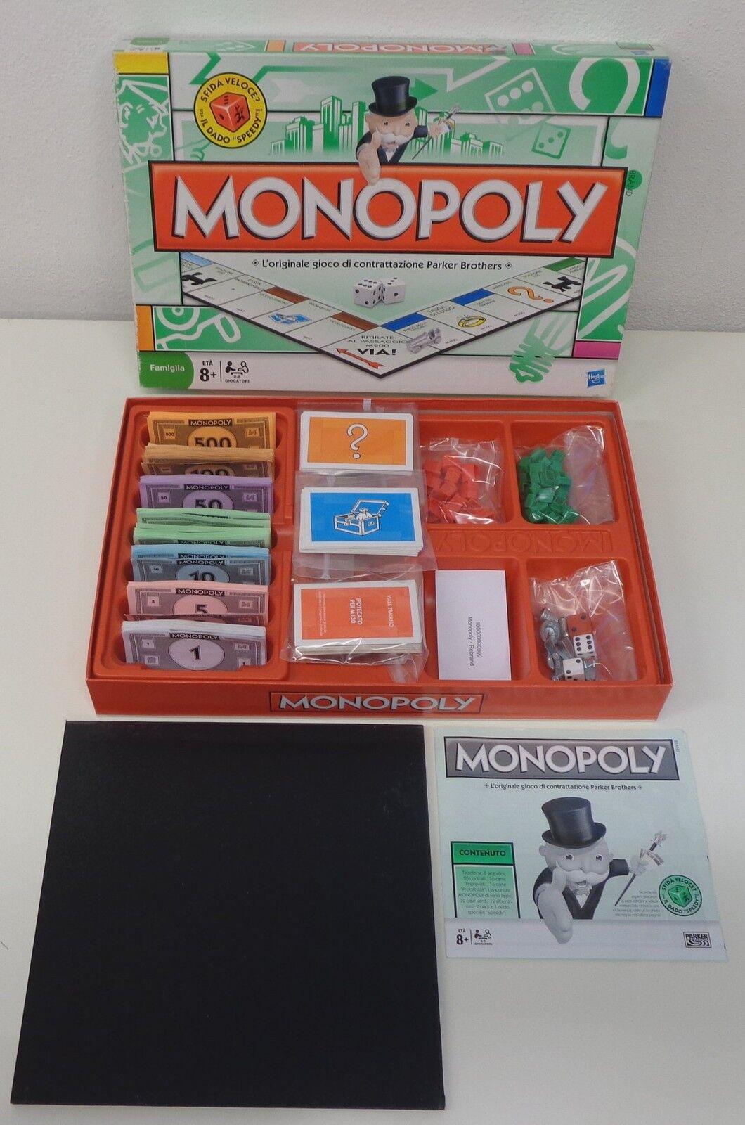 Hasbro 2008 Game Play Gioco in Scatola Vintage Monopoli - MONOPOLY - Completo -