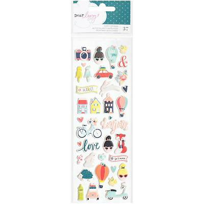 Puffy Stickers Dear Lizzy Lovely Day American Crafts 376954 Mini Icons