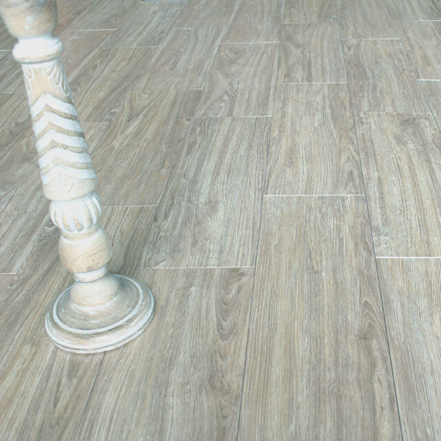 10x10cm Sample Of 57x19cm Vera Grey Wood Effect Ceramic Floor Tiles