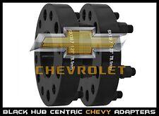 "2 Pc Chevy Silverado 1.25"" Thick Black Hub Centric Wheel Spacers Adapters 14x1.5"