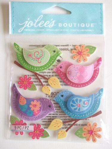 Jolee/'S BOUTIQUE Pegatinas 3D-Cosido coloridas aves
