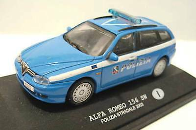 - Polizia Stradale Italia - Alfa Romeo 156 Sw 2003 - 1/43 - Police Polizei Polis Vendendo Bene In Tutto Il Mondo